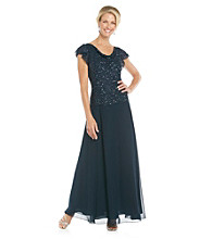 J Kara® Starry Beaded Top Gown