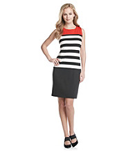 Ronni Nicole® Stripe Colorblock Ponte Dress