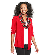 Notations® Petites' Layered-Look Scarf Sweater