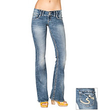 Silver Jeans Co. Dawson Straight Fit Low-Rise Flare Jeans