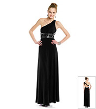 Hailey Logan Shine One-Shoulder Gown