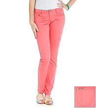 Celebrity Pink Juniors' Stretch Sateen Skinny Pant