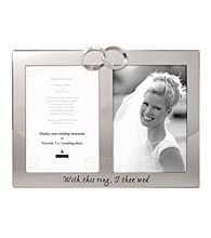 Malden Silver 2-Opening Wedding & Program Frame