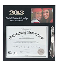 Malden Black 2-Opening Grad Document Frame