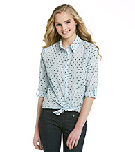 Eyeshadow® Juniors' Polka Dot Equipment Shirt