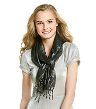 The Accessory Collective Juniors' Metallic Fringe Scarf