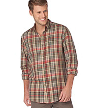 Chaps® Men's Big & Tall Moss Awahnee Plaid Twill Woven