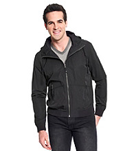 Calvin Klein Jeans® Men's Black Hooded Lightweight Nylon Jacket
