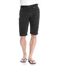 Calvin Klein Jeans® Men's Black Canvas Short with Pork Chop Pockets