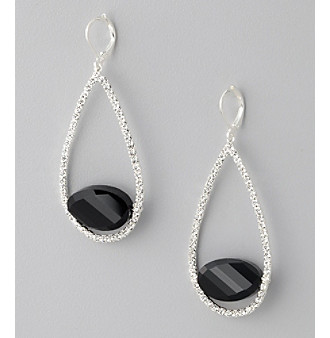 BT-Jeweled Crystal & Rhodium Eurowire Drop Earrings
