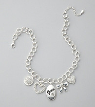 Guess Silvertone Charm Necklace