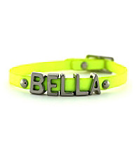 BCBGeneration™ Neon Yellow and Silvertone Bella Mini Affirmation Bracelet