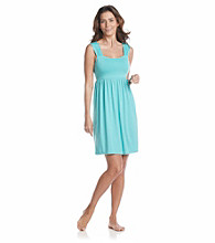 Relativity® Knit Smock Back Chemise