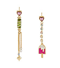 Betsey Johnson® Multi Colored Popsicle & Candy Mismatch Earrings