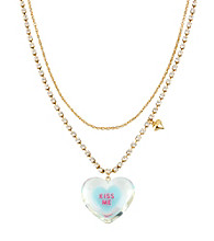 Betsey Johnson® Blue & Goldtone