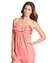 Chanteuse® Knit Ruffled Cami Top