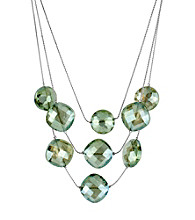 Kenneth Cole® Green Faceted Bead Illusion Necklace