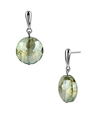 Kenneth Cole® Green Faceted Bead Drop Earrings