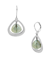 Kenneth Cole® Green Faceted Bead Orbital Drop Earrings