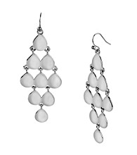 Kenneth Cole® Silvertone Teardrop Chandelier Earrings