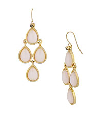 Kenneth Cole® Pink Teardrop Chandelier Earrings