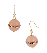 Kenneth Cole® Pave Pink Bead Drop Earrings