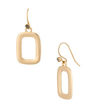 Kenneth Cole® Goldtone Open Rectangle Drop Earrings