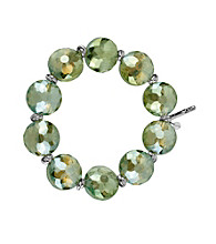 Kenneth Cole® Green Faceted Bead Stretch Bracelet