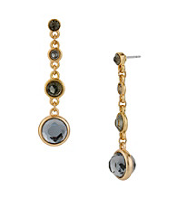 Kenneth Cole® Goldtone Linear Earring with Crystal Accents
