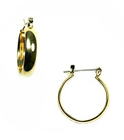 Napier® Goldtone Medium Click It Hoop Earrings