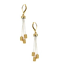 Napier® Two Tone Shaky Leverback Drop Earrings