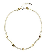 Napier® Two Tone Collar Necklace