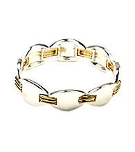 Napier® Two Tone Stretch Bracelet