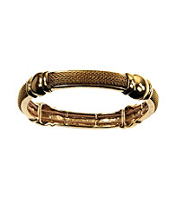 Napier® Goldtone Textured Stretch Bracelet