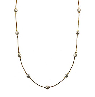 Napier® Goldtone Pearl Collar Necklace