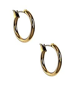 Napier® Goldtone Click It Hoop Earrings