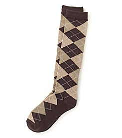 Relativity® Argyle Knee High Socks
