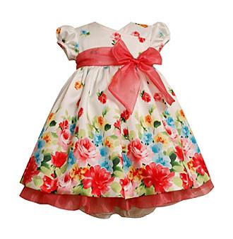 Bonnie Jean® Baby Girls' Coral/White Floral Dress