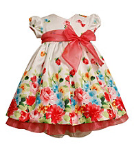 Bonnie Jean® Baby Girls' Coral/White Floral Dress