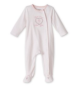Little Me® Baby Girls' Pink Thanks Footie