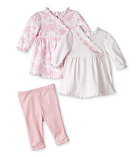 Little Me® Baby Girls' Pink Floral 2-pc. Dress and Leggings Set