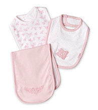 Little Me® Baby Girls' Pink Bib and Burp Pack