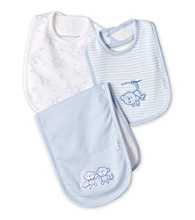 Little Me® Baby Boys' Blue Bib and Burp Pack