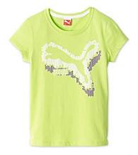 PUMA® Girls' 7-16 Lime Green Fast Cat Tee