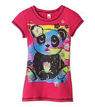 Beautees Girls' 7-16 Pink Fruit Punch Panda Screen Tee