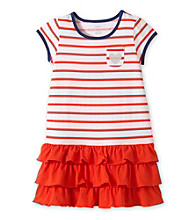 Carter's® Girls' 4-6X Red/White Striped Dress