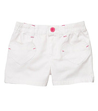 Carter's® Girls' 2T-6X White Heart Pocket Shorts