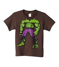 Marvel® Boys' 4-7 Brown Short Sleeve Headless Hulk Tee
