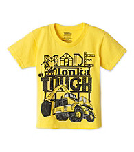 Tonka® Boys' 2T-7 Yellow Short Sleeve Tough Guy Tee