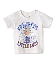 Peanuts® Boys' 2T-4T White Short Sleeve